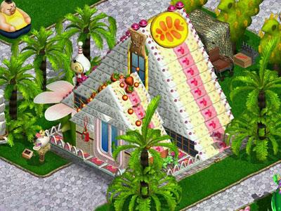 《浪漫庄园》糖果风的建筑图片