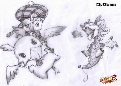 dygame第一网游社团:梦龙可爱手绘