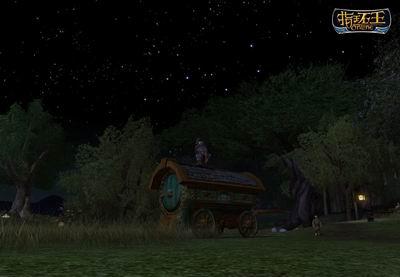 指环王ol 仰望夜空中的北斗七星高清图片