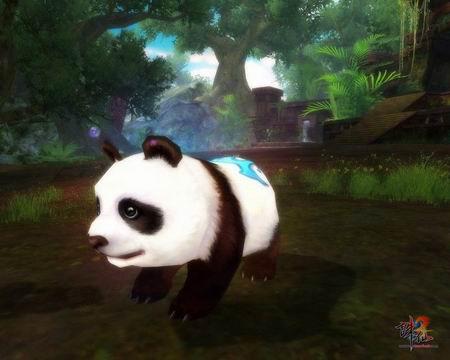 《诛仙2》首款超萌宠物——大头熊猫