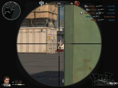 狙击枪开镜瞄准