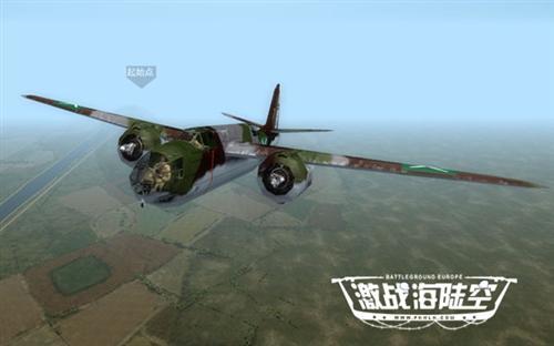 在空中与敌人的飞机战斗