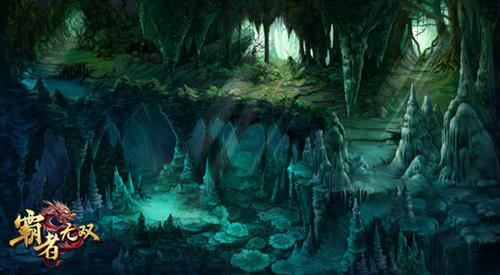 石林场景原画,独特喀斯特地形,感受大自然的鬼斧神工