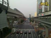 龙岗南联地铁站,天桥拍摄!