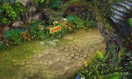 竹林古风背景素材