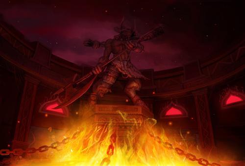游戏炫酷背景火山素材