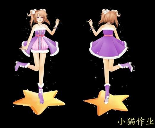 【伢子】12星座q版 q版宠物/yy/鼠绘; qq炫舞yy设计团被埋没的服装之