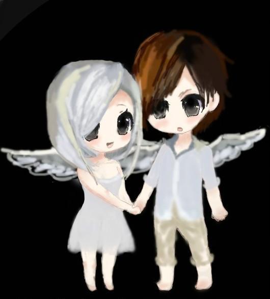 么么手绘原创q版,白衣天使有爱情侣装_qq炫舞_qq炫舞