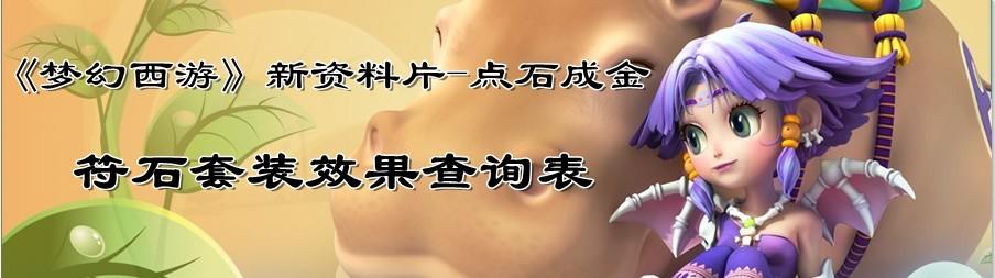 梦幻西游符石套装查询专题
