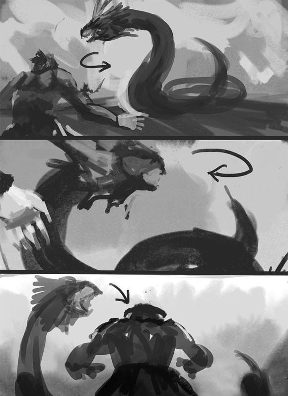 超萌手绘图教你怎样角力大蛇拉克欧拉——洛奇英雄传