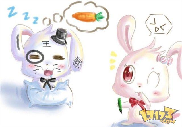 qq头像可爱另类萌兔子
