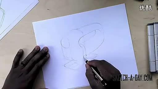 工业设计产品手绘-电熨斗