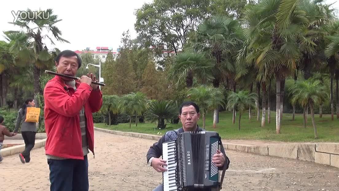 我是一个兵笛子独奏-2(手风琴伴奏)-笛子独奏