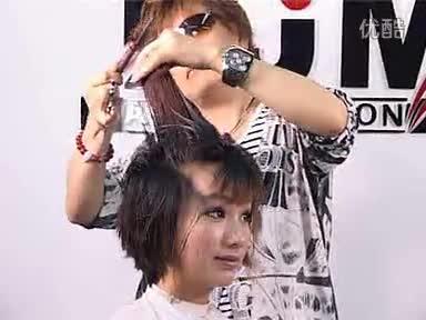 最新短发烫发发 纹理烫发