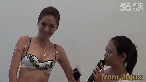 莎莎内衣秀模特美女全透明诱惑表
