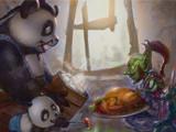 熊猫人父子漫画:好基友都是从交换食物开始
