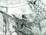 丁小璐未来绘画作品:最终幻想-巴哈姆特