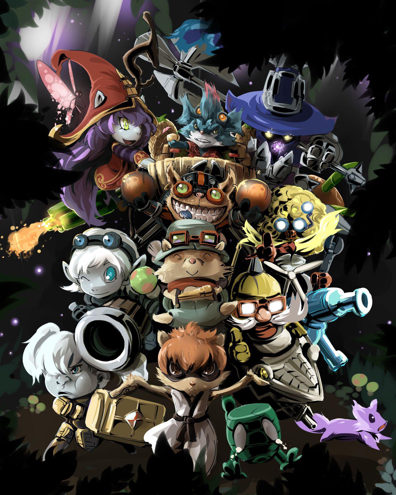约德尔人竞技游戏lol里面角色背景故事设计的一生物种族,约德尔人