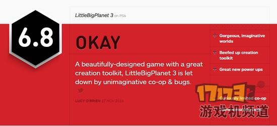 《小小大星球3》IGN 6.8分差评 bug多毁游戏-17173游戏机频道