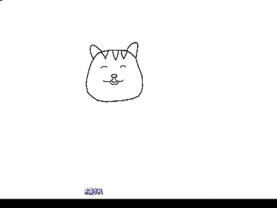 简笔画小猫的画法(1)-游戏视频