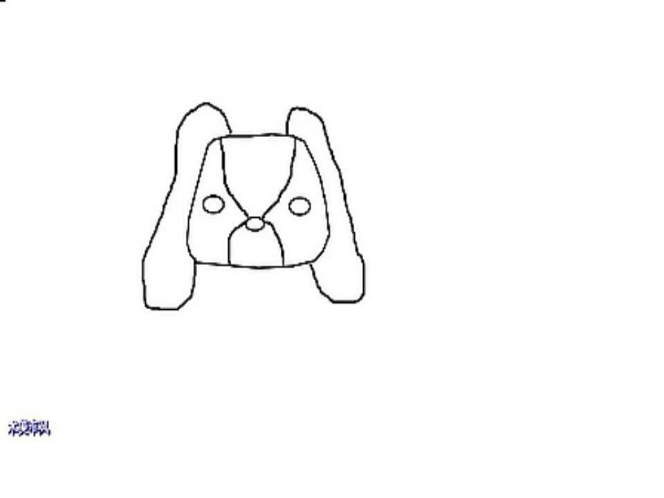 高清合集 简笔画小狗的画法-游戏视频