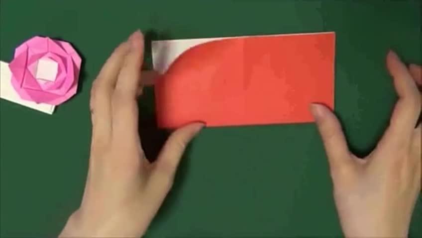 折纸玫瑰 玫瑰花的折法