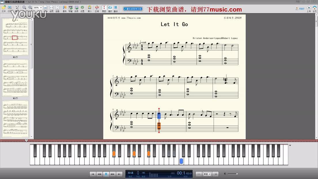 集锦《let it go 随他吧》钢琴曲-钢琴谱-找钢琴曲谱,就来蛐蛐钢琴网