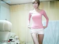 韩国美女热舞自拍bj0723主持李由美齐b小热