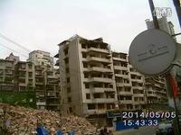 几天大挖机就把待拆楼房变碎块-视频 高清集锦