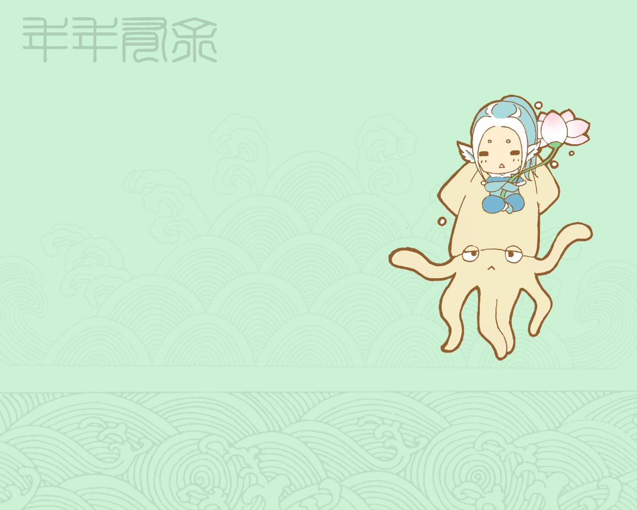 梦幻西游萌萌的q版 梦幻萌妹萌汉子壁纸 17173.com