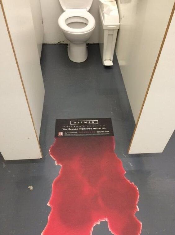 游戏广告有创意 妹纸们都被吓尿了图片